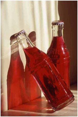 Leaning bottles