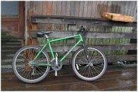 The green bike