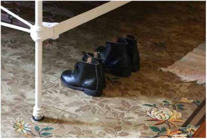 Shoes under the bed
