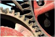 Meshing gears