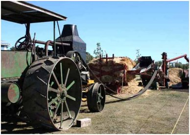 Threshing operation