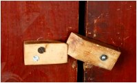 Cupboard door latch