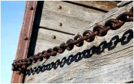 Chain on truck box 1