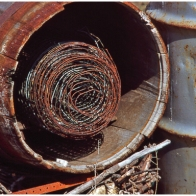Coil of fencing wire