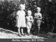 Bertha, George, Bill, probably 1937