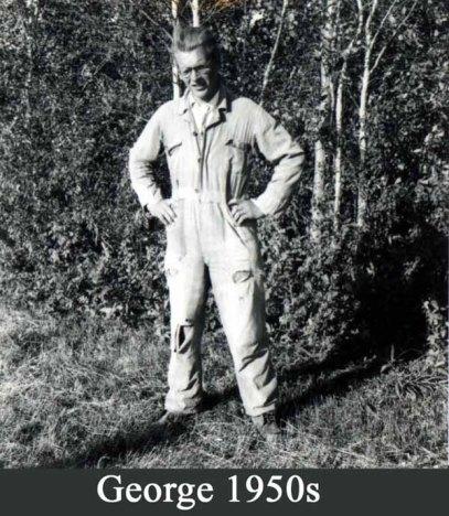 George on the farm, 1950s