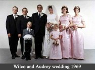 At Wilco and Audrey's wedding