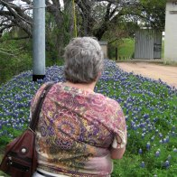 Karen and bluebonnets