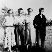 Bertha, JohnJ, Mother, John c 1954