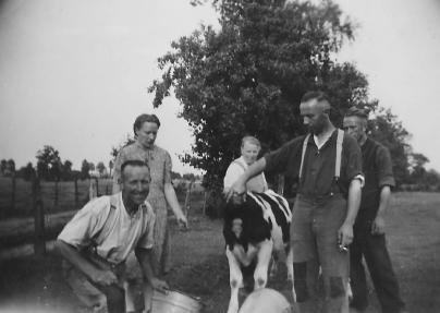 Jan, Gijs, Teun, WIllem, Heimen Nijboer 1951
