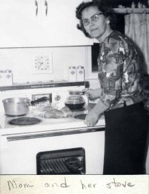 Grandma and her stove