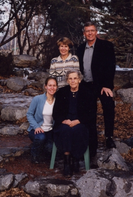 Mom, Peter, Anne, Lauren 1999