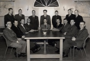 With church council members 1952