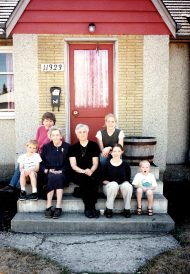 Mom, Jean, grandchildren c. 1996