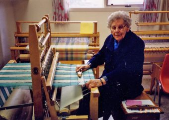 Mom at the loom 1990s