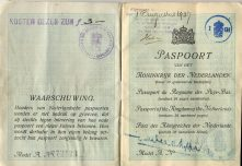 Herman Wierenga passport 1927