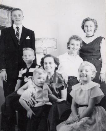 Mom's family c. 1956