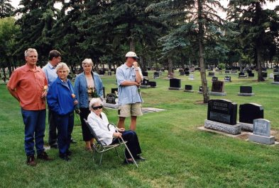 At the cemetery 2003