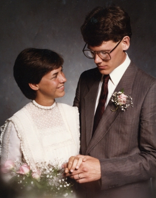 Mark & Debbie wedding 1984