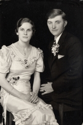 Herman & Harriet wedding 1934