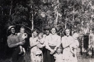 With Dewey and Agnes and unknown 1938