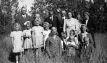 Visiting Lacombe 1940s. Dixie at far left in front.