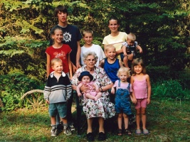 Mom with great grandchildren 2003