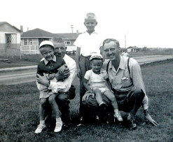 With Peter and Allan Sonnema 1954