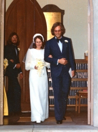 Peter and Anne wedding 1974