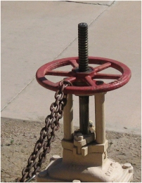 Chain-locked valve