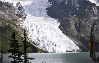 Berg Lake glacier1984