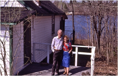 At Corry Lake cottage 1986