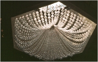 Chandelier in Ottawa hotel 1976