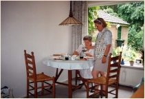 With Mom Wierenga in Holland 1995