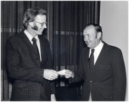 Research grant cheque from Henry Friesen 1976