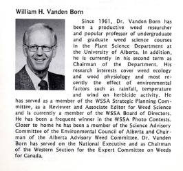 Note about receiving Fellow Award from the Weed Science Society of America in 1987