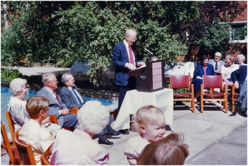 Dedication of the Hugh Knowles Court 1988