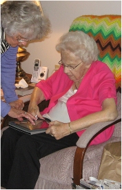 WIth Aunt Jeanette in Waupun 2012