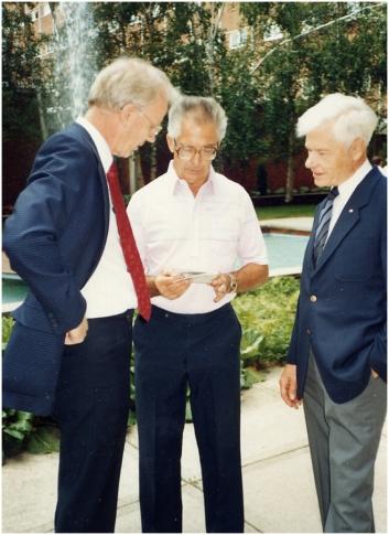 With John Kuspira (center) and John Bowland 1988