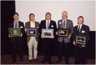 Receiving a photo award 1994