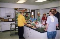 In church kitchen for Grandma's 90th birthday 2006