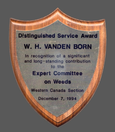 ECW Service Award plaque 1994