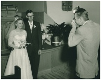 Wedding 6 June 1958, with Bill Sinnema
