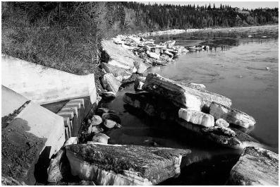 Ice in North Saskatchewan River