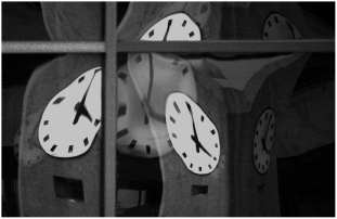 Clock reflections Edmonton