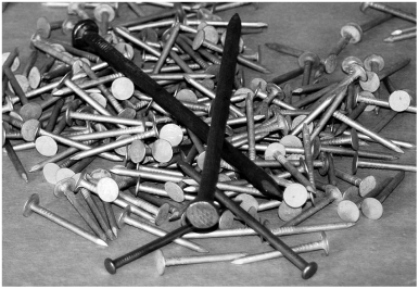Roofing and other nails